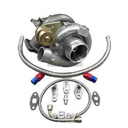 T61 Turbo Charger + Oil Line Kit For 86-92 Supra MKIII 7MGTE CT26 Bolt On 500 HP