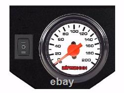 Tow Assist Air Bag Over Load Kit White Gauge Tank For 2001-10 Chevy 2500 3500