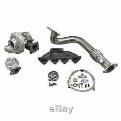 Turbo Manifold Kit For 96-00 Civic EK B16 B18 Keeps AC PS Bolt On Fit