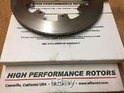 WILWOOD 4 POT CALIPER AND BRAKE DISC KIT for MGB with 15 BOLT-ON WHEELS