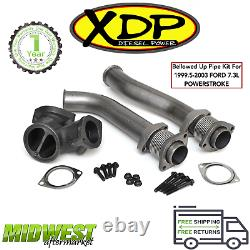 XDP Bolt-On Bellowed Up Pipe Kit For 1999.5-03 Ford F-250 F-350 7.3L Powerstroke